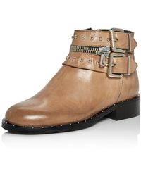 Charles David - Chief Studded Leather Booties - Lyst