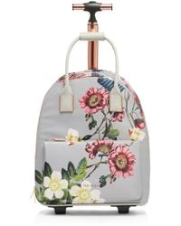 38682114d Lyst - Ted Baker Donnie Lost Gardens Two-wheel Travel Bag in Black