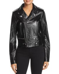 Elie Tahari - Jacalyn Leather Moto Jacket - Lyst