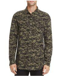 DIESEL   S-bancs Button-down Long Sleeve Regular Fit Shirt   Lyst