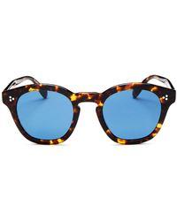 Oliver Peoples - Men's Boudreau L.a. Round Sunglasses - Lyst