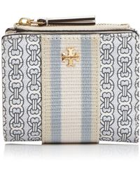 Tory Burch - Mini Gemini Link Canvas Wallet - Lyst