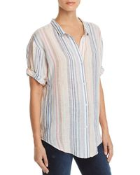 Splendid - Striped Boyfriend Shirt - Lyst