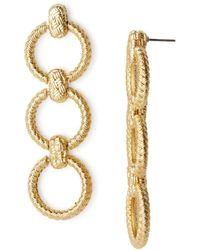 For Love & Lemons - Triple-loop Linear Drop Earrings - Lyst