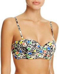 Paul Smith - Floral Cupped Bandeau Bikini Top - Lyst