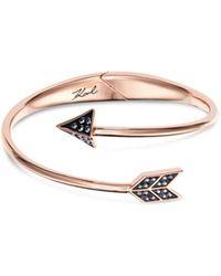 Karl Lagerfeld - Hearts & Arrows Cuff Bracelet - Lyst