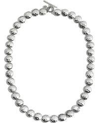 "John Hardy - Sterling Silver Palu Disc Necklace, 18"" - Lyst"