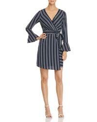 Vero Moda - Nicky Striped Faux-wrap Dress - Lyst
