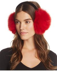 Surell - Fox Fur Velvet Band Earmuffs - Lyst