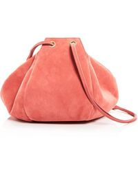 Creatures of Comfort - Puff Suede Drawstring Shoulder Bag - Lyst