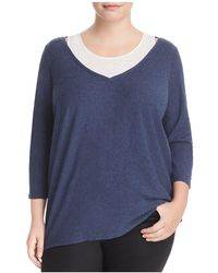 Vince Camuto Signature - Layered-effect High/low Sweater - Lyst
