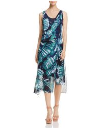 NIC+ZOE - Nic+zoe Leaf Impression Asymmetric Dress - Lyst