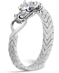 John Hardy - Men's Sterling Silver Legends Naga Bracelet With Sapphire Eyes - Lyst