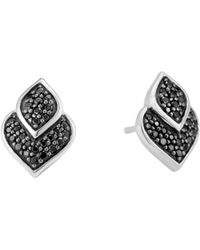 John Hardy - Sterling Silver Legends Naga Black Sapphire And Black Spinel Stud Earrings - Lyst