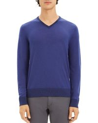 993885c5 Men's Theory V-neck sweaters On Sale - Lyst