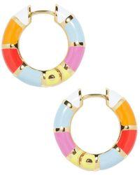 BaubleBar - Manila Stripe Hoop Earrings - Lyst