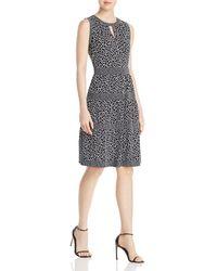 MICHAEL Michael Kors - Giraffe Border Print Dress - Lyst