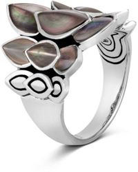John Hardy - Legends Naga Mother-of-pearl Saddle Ring - Lyst