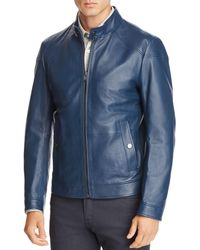 BOSS - Nocan Leather Jacket - Lyst