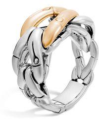 John Hardy - Sterling Silver & 18k Gold Woven Ring - Lyst