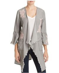 Billy T - Frayed Floral Embroidered Jacket - Lyst