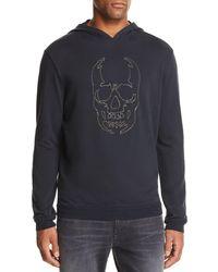 John Varvatos - Stitched-chain Skull Hooded Sweatshirt - Lyst