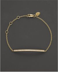 Meira T - 14k Yellow Gold Diamond Bar Bracelet - Lyst
