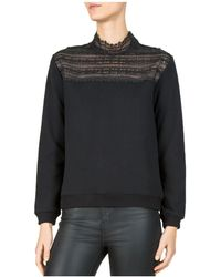 The Kooples - Lace-inset Sweatshirt - Lyst