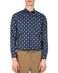 The Kooples - Paisley Pop Slim Fit Button-down Shirt - Lyst
