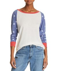 Alternative Apparel - Star Color-block Sweatshirt - Lyst