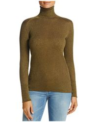 Tory Burch | Lana Ribbed Turtleneck Sweater | Lyst