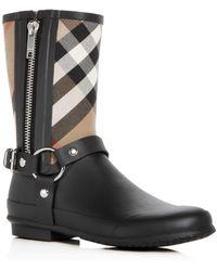 Burberry - Women's Zane Signature Check Rain Boots - Lyst