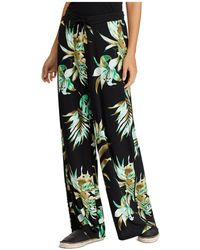 Ralph Lauren - Lauren Wide-leg Tropical-print Jersey Pants - Lyst