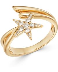 Bloomingdale's - Diamond Shooting Star Bypass Ring In 14k Yellow Gold - Lyst