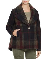 Laundry by Shelli Segal - Plaid Swing Coat - Lyst