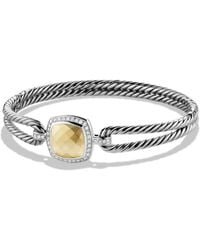 David Yurman - Albion Bracelet With Diamonds And Gold - Lyst