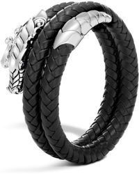 John Hardy - Naga Double Coil Bracelet With Leather - Lyst