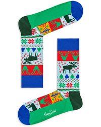 Happy Socks - Fair-isle Holiday Socks - Lyst