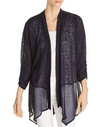 Avec - Sheer-hem Open Cardigan - Lyst