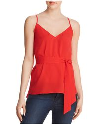 French Connection - Dalma Self-tie Sash Top - Lyst