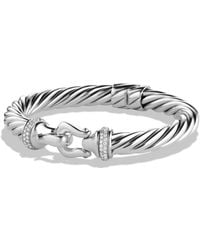 David Yurman - Buckle Cable Bracelet With Diamonds - Lyst