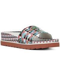 Donald J Pliner - Women's Cava Printed Leather Wedge Slide Sandals - Lyst