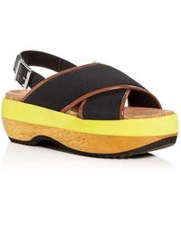 80601cbc8f Marni - Women's Crisscross Slingback Platform Sandals - Lyst