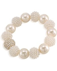 Carolee - Simulated Pearl Beaded Bracelet - Lyst