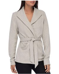 B Collection By Bobeau - Candice Heathered Knit Wrap Jacket - Lyst