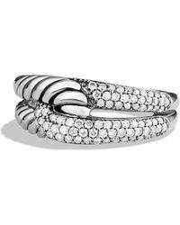 David Yurman - Labyrinth Single-loop Ring With Diamonds - Lyst