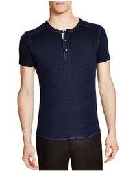 Wings + Horns - Wings + Horns Slub Short Sleeve Henley - Lyst