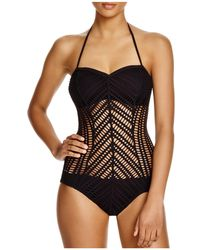 Robin Piccone - Sophia Crochet One Piece Swimsuit - Lyst