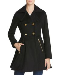 Laundry by Shelli Segal - Fit And Flare Double-breasted Coat - Lyst