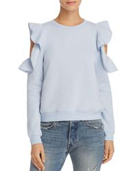Rebecca Minkoff - Gracie Ruffle Cold Shoulder Sweatshirt - Lyst